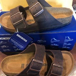 Birkenstock Arizona habana brown asst new